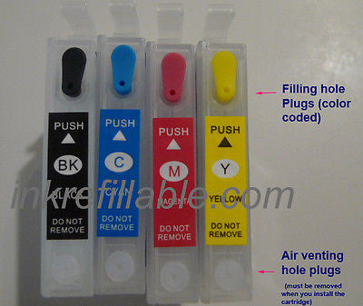 Refillable ink cartridges empty 126 for Epson workforce 633 635 645 840 845 60