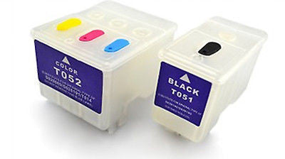 T051 T052 empty REFILLABLE ink cartridges f Epson stylus color 800N 810 850 850N