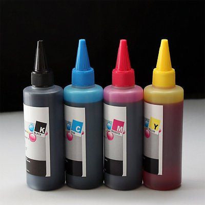 400ml UV Resistant Dye Ink for Epson workforce wf 545 630 633 635 645 840 845 60 - leafypro