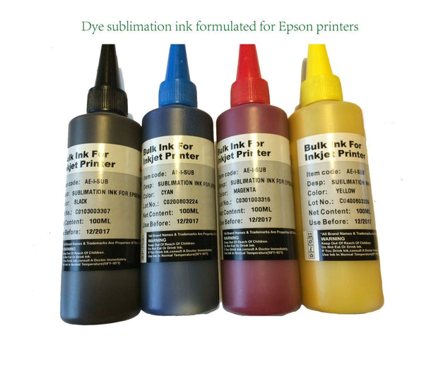 400ml DYE sublimation Ink for Epson workforce wf 2520 2530 2540 3620 3640 7110 - leafypro