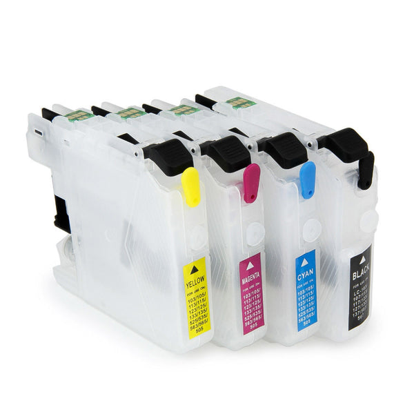 empty LC101 LC103 Refillable Ink Cartridges for Brother MFC-J475DW