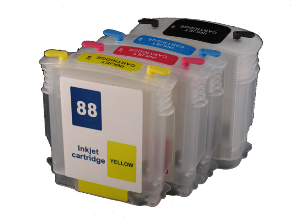 Refillable ink cartridge 88 88XL for HP officejet pro K550DTWN L7500 L7400 K8600 L7580 L7590 L7550 L7750 L7780 K550 PRINTER