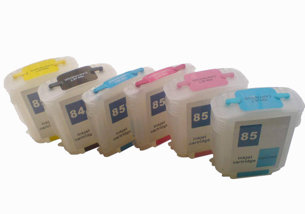 Refillable 84 85 ink cartridge set for HP Designjet 130 130gp 130nr 30 30n 90 90gp 90r series