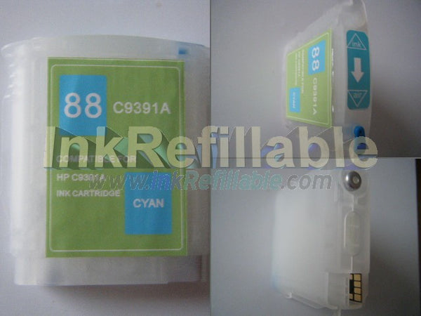 Refillable 88 cyan ink cartridge C9386AN C9391AN for HP OFFICEJET PRO K550 TN TWN DTN DTWN K5400 L7500 L7550 L7580 L7590 PRINTER