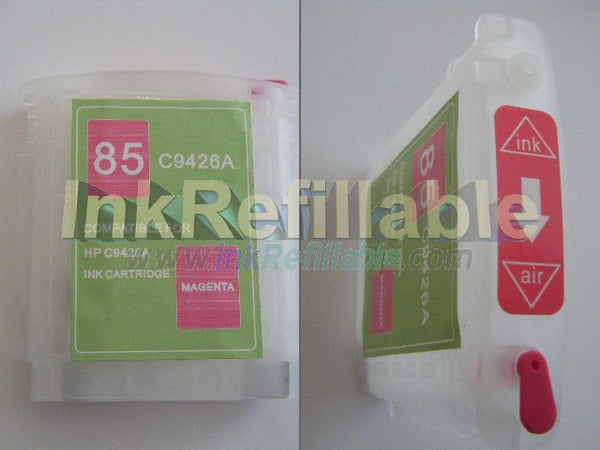 Refillable 85 magenta ink cartridge C9426A for HP Designjet 130 130gp 130nr 30 30n 90 90gp 90r series
