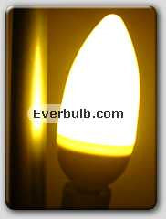 Warm white 0.5W 5 LED light bulb mini candelabra screw base
