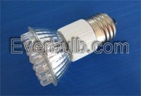 Red JDR 36 LED light bulb 2W replace 20W standard screw