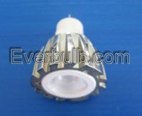 Green 2W HEHO LED bulb replaces MR11 halogen bulb 3x bright