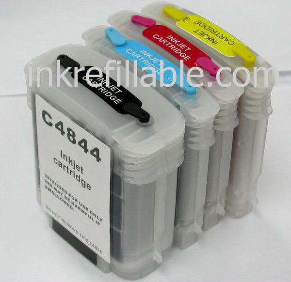 Refillable 10 11 ink cartridges for HP COLOR INKJET CP 1700 1700D 1700PS CP1700 CP1700D CP1700PS PRINTER
