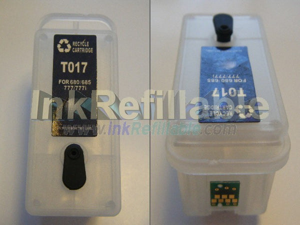 Refillable T017201 T017 black INK cartridges for Epson Stylus color 777 webTV 1000 ICS 680 777i 1000ICS printers