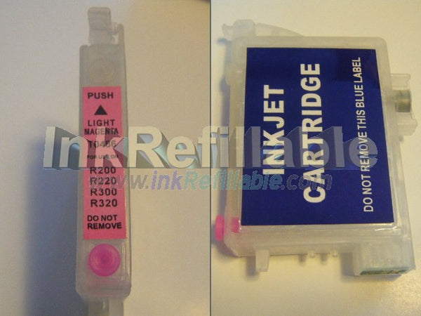 Refillable cartridge T0486 light magenta ink 48 for Epson stylus photo R200 R220 R300 R320 R300M R340 RX500 RX600 RX620 PRINTERs