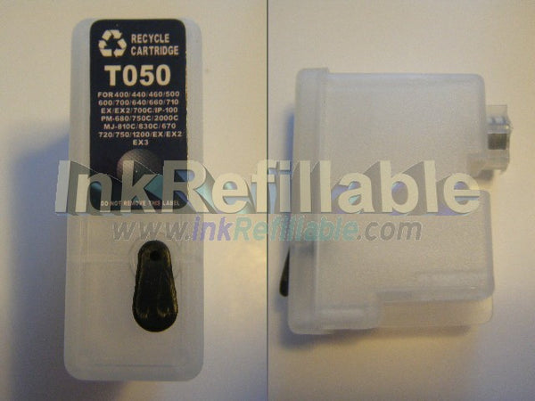 Refillable S187093 S020093 S020187 Black ink cartridge T050 for Epson stylus photo 1200 700 750 web TV EX printer
