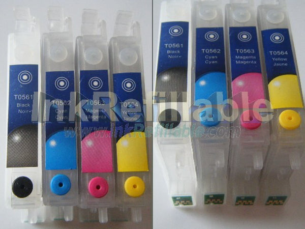 Refillable T055640 551 552 553 554 ink cartridges for Epson Stylus photo Rx420 Rx425 Rx450 printers