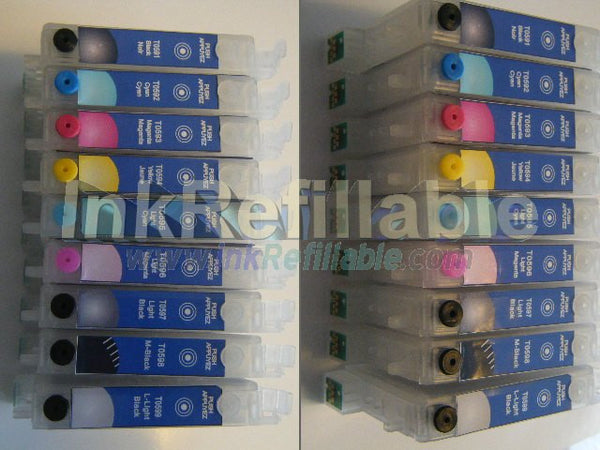 Refillable ink cartridges #59 T0591~9 9 pack set for Epson Stylus Photo R2400 printer