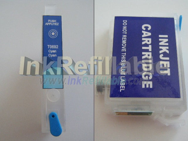 Refillable cartridge T0682 68 cyan Epson Stylus NX510 NX415 NX515 workforce 310 315 500 600 610 615 1100 30 40 PRINTER AIO