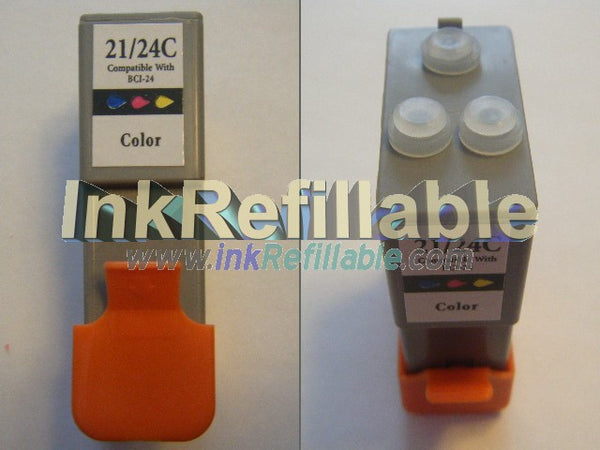 Refillable compatible Canon BCI-24 cartridge Black+3Color
