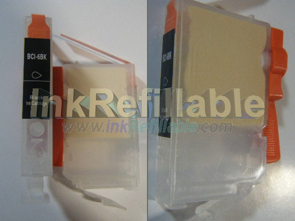 Refillable compatible Canon BCI 6BK Black Cartridge
