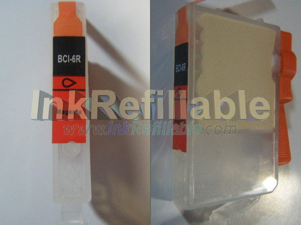 Refillable compatible Canon BCI 6R Red Cartridge