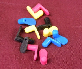 Color coded silicone plugs with elongated tab for our refillable ink cartridges and CISS