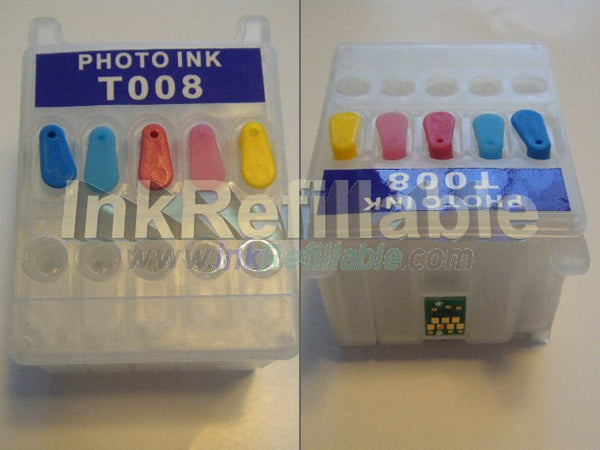 Refillable T008201 color ink Cartridge T008 for Epson stylus photo 780 785EPX 825 870 875DC 875DCS 890 printer