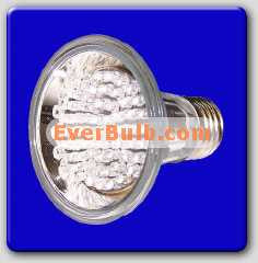 Yellow 60 LED light bulb PAR20 3W replace 40W standard E26