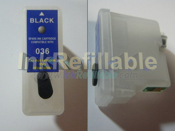 Refillable T036 T037 ink cartridges for Epson stylus C42 C44 C46 C42+ C42S C44S C42SX C44SX C42UX C44UX PLUS PRINTERS