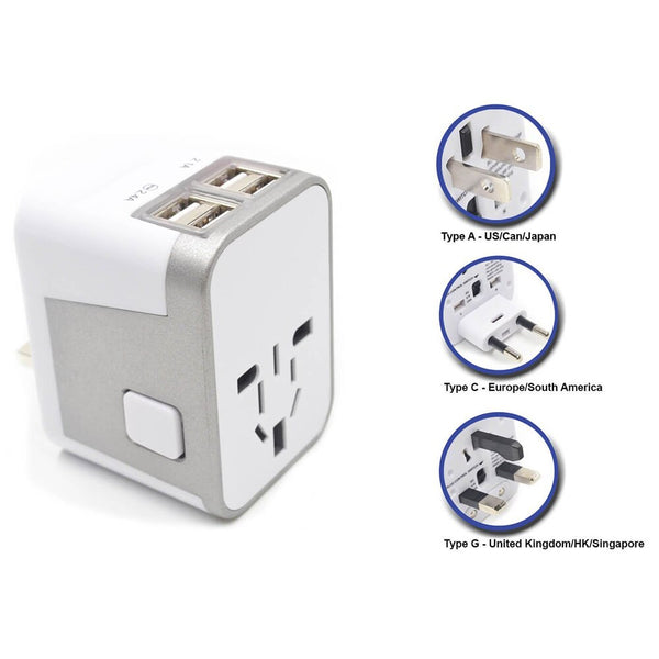 Passport GO Resettable Grounded Travel Adapter