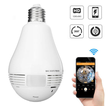 360° Fish Eye Bulb Panoramic IP Camera - Smart-Novelty.com