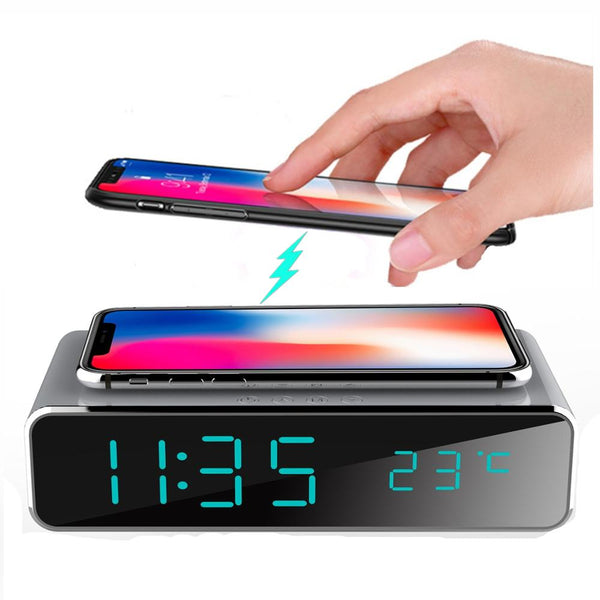 Alarm Clock with Phone Wireless Charger - Smart-Novelty.com