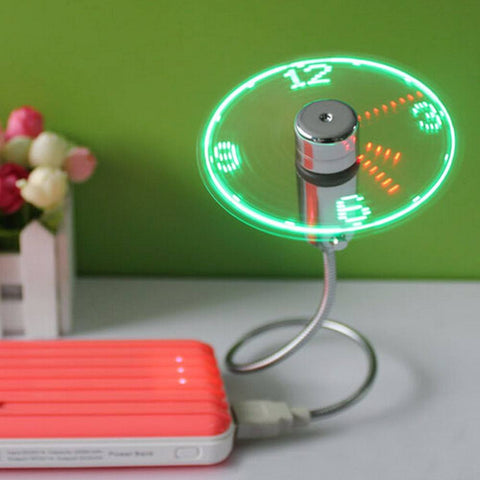 USB Led Clock Fan - Smart-Novelty.com