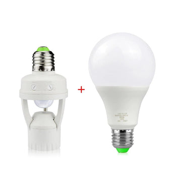 Motion Sensor lamp Holder with Led Bulb - Smart-Novelty.com