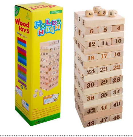 Pine Wooden Tower Toy