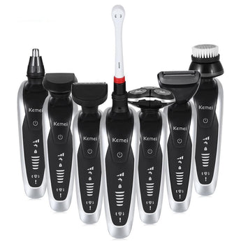 7 in 1 Men's 3D Electric Razor, Trimmer & Brush Kit - Smart-Novelty.com