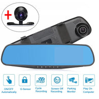 Car Mirror Dual Lens DVR Camera