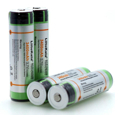 Original 18650 Rechargeable battery 3400mAh 3.7V
