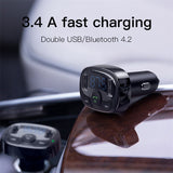 Car Bluetooth Aux Modulator with Dual USB Charger - Smart-Novelty.com