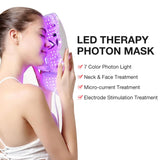 7 Color LED Facial Neck Mask With EMS Microelectronics - Smart-Novelty.com