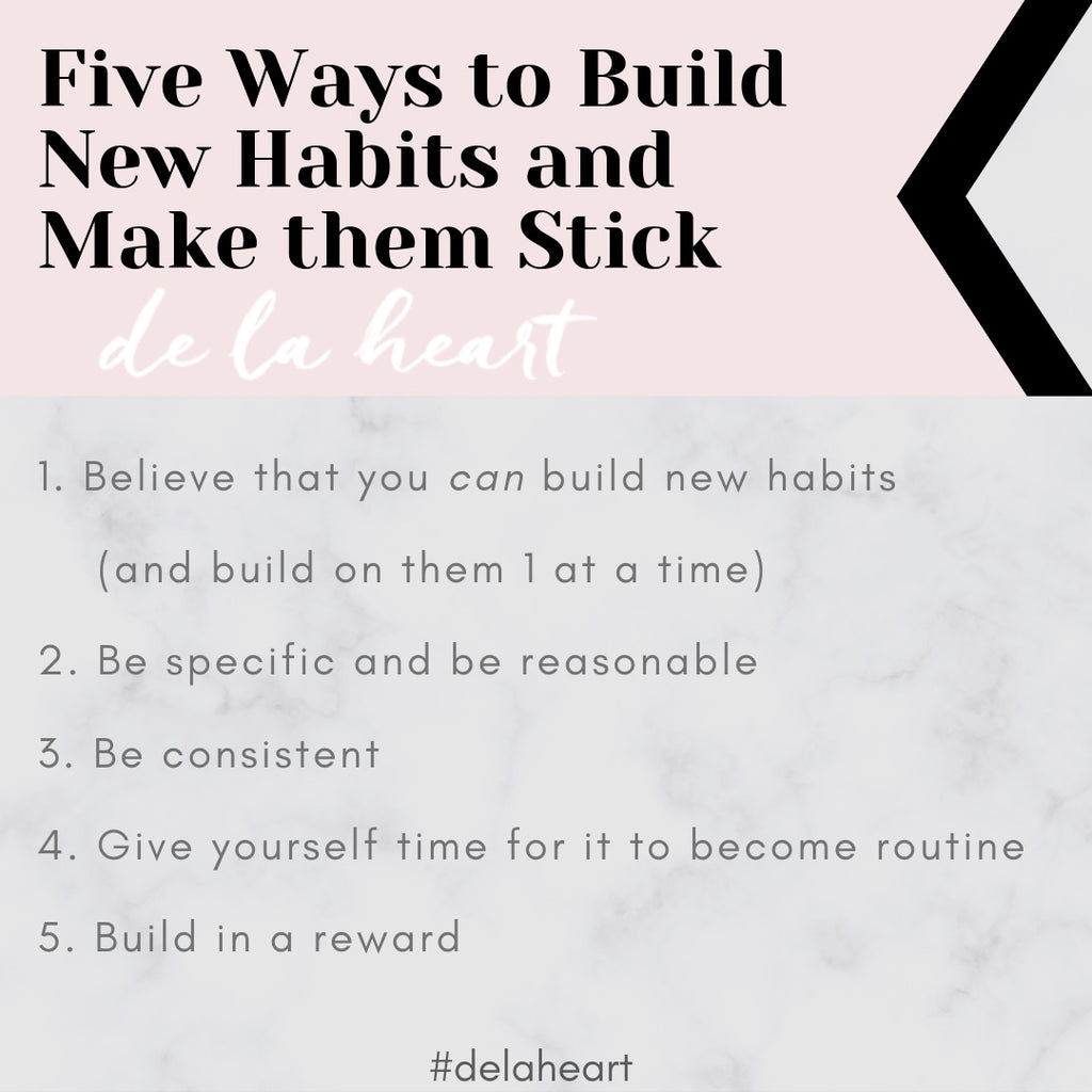 5 Easy Ways to Build New Habits (and how to make them stick)