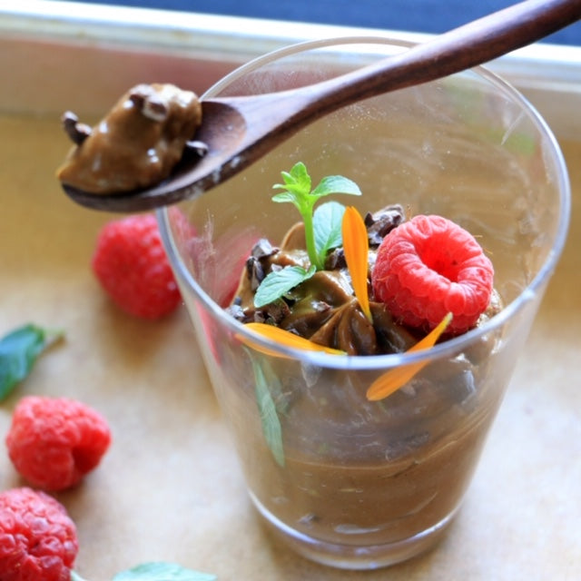 Chocolate Avocado Mousse by Chef Valentina Cordero