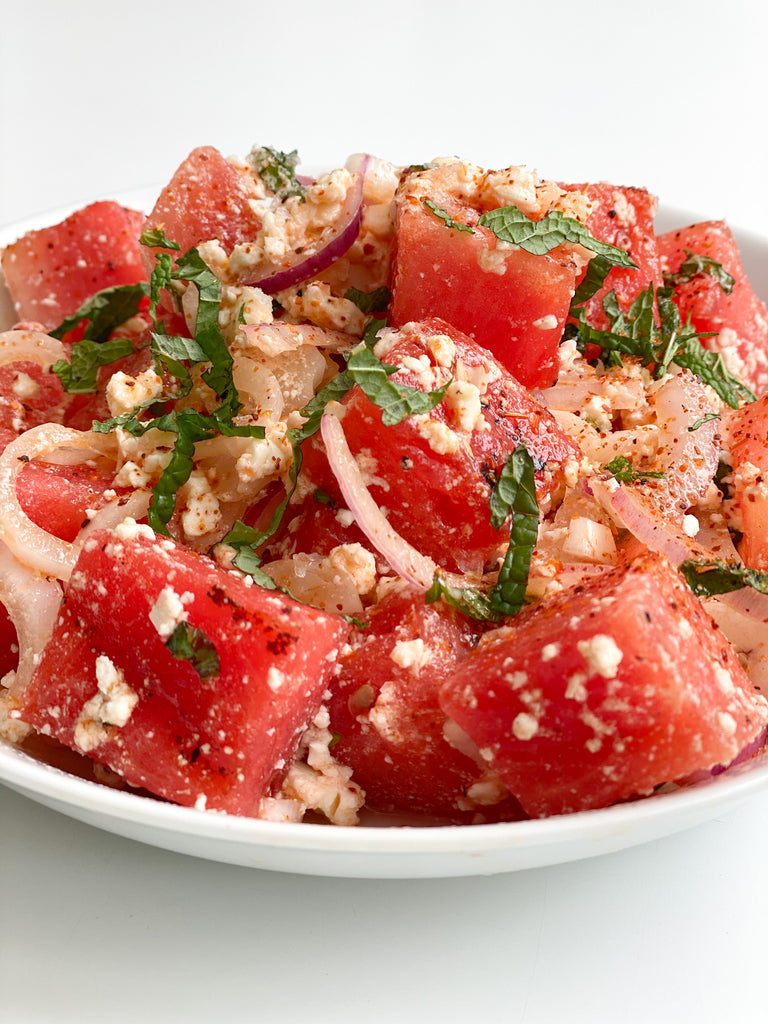 Grilled Watermelon & Mint Salad