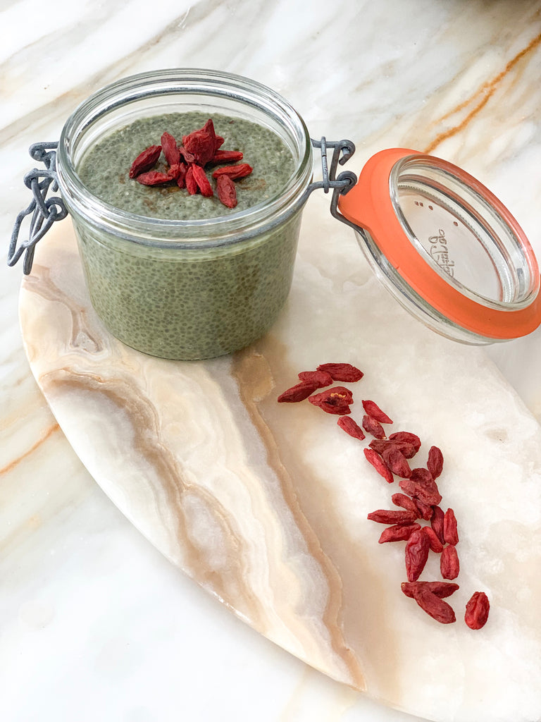 5 Minute Matcha Chia Pudding
