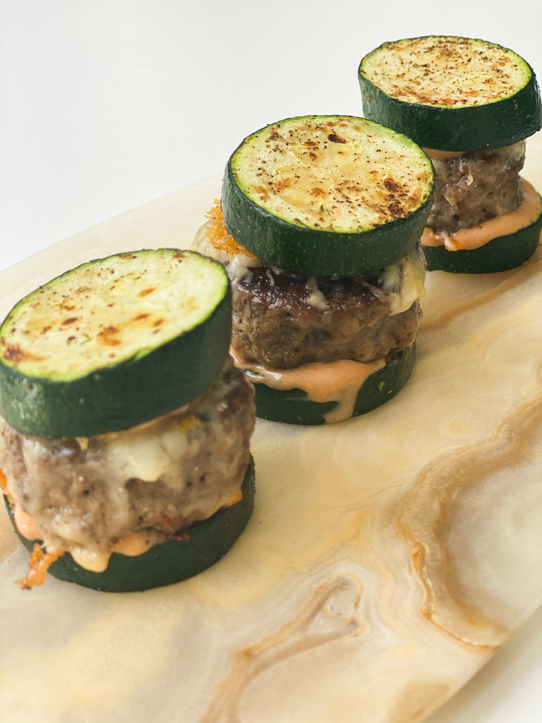 Zucchini Burger Sliders
