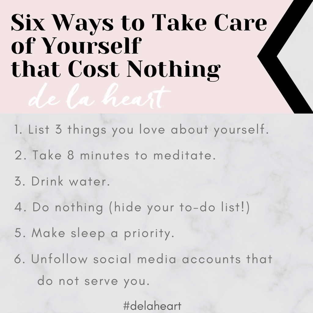6 Ways to Take Care of Yourself (that cost NOTHING)