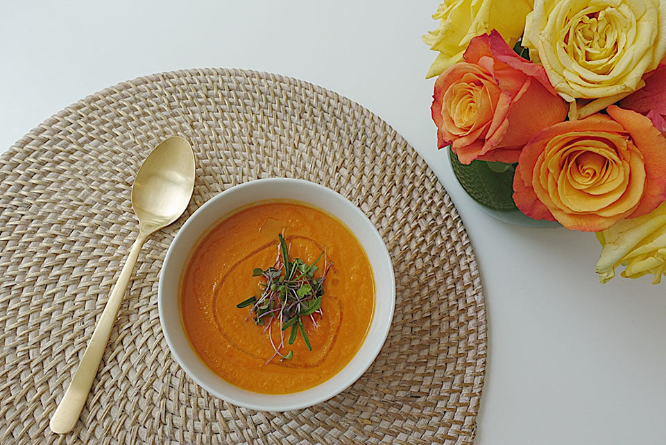 Healthy Eats: Vegan Carrot & Ginger Soup.