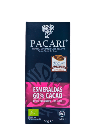 Esmeraldas 60% Organic Chocolate Bar