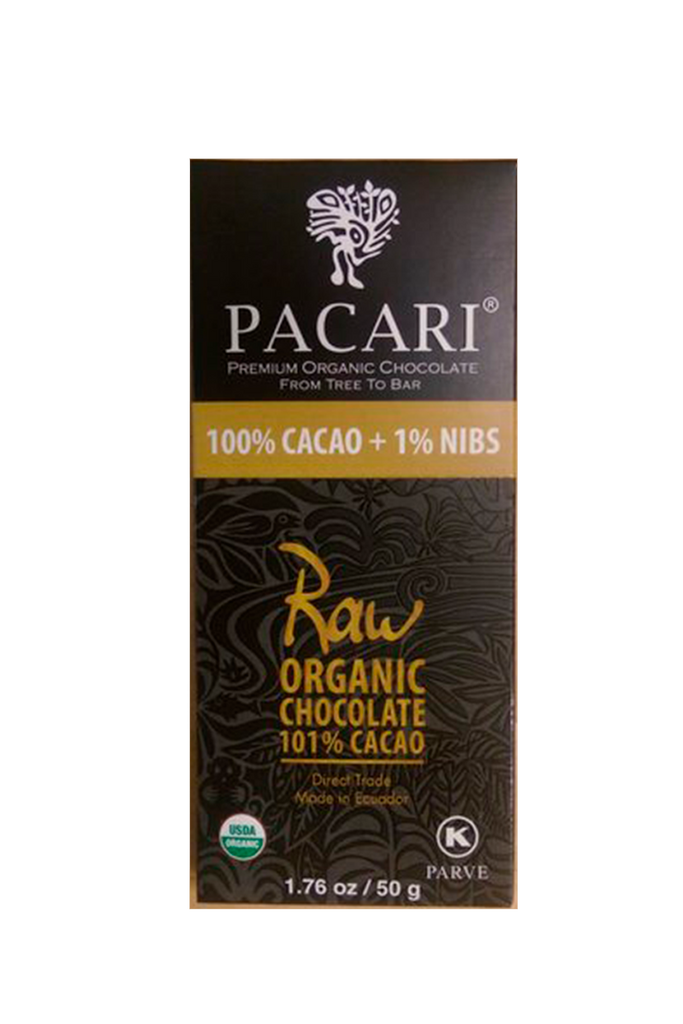 Raw 101% Organic Chocolate Bar