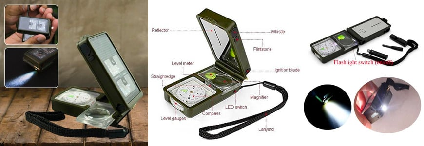 The 10-in-1 Multifunction Military Compass Kit