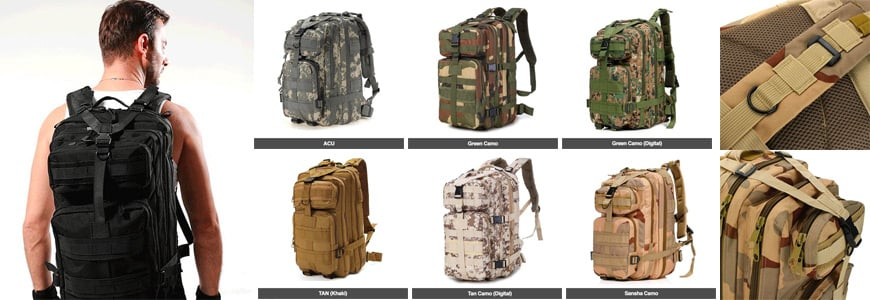 The Military Style Outdoor 30L Waterproof Rucksack/Backpack