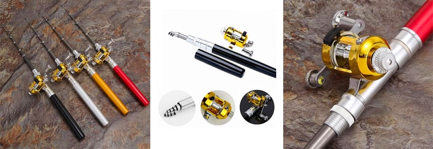 The Mini Portable Pocket Pen Fishing Rod and Reel