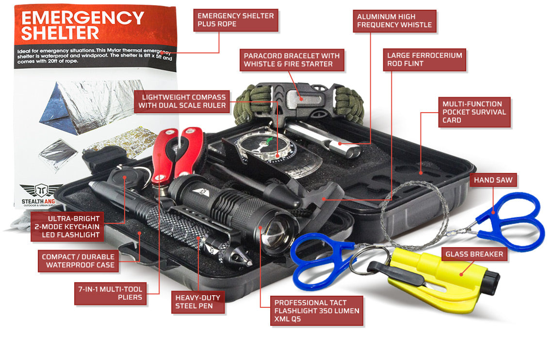 Whats in my stealth angel survival kit